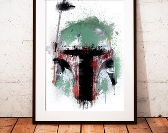 Boba Fett - limited edition print 210 x 297 mm, numbered and signed