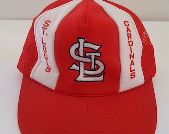 3cf28ee7 Vintage early 1980's St Louis Cardinals baseball cap, mesh back snap style  one size fits all, used but lightly