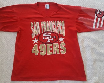 31ae2522 Vintage well used San Francisco Francisco 49ers T-shirt, size L made in  USA, mid 1980's Joe Montana, Steve Young