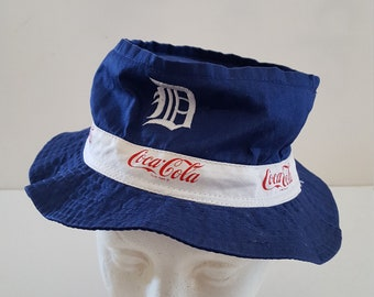 f4e2d3ce72f Vintage 1970 s style Detroit Tigers Coca Cola advertising 100% cotton bucket  hat