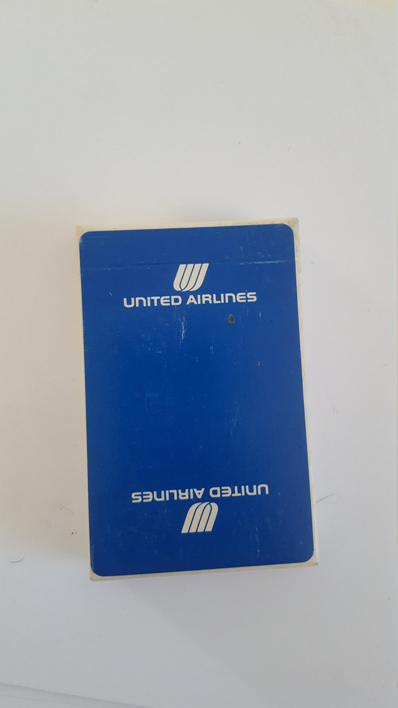 Vintage circa 1980/'s U.S Playing Cards sealed deck of United Airlines branded cards Choice of red or blue choose from variations