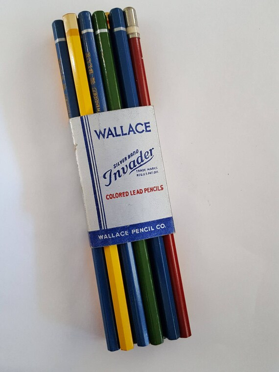 vintage colored drawing pencils un sharpened lot of 15 etsy