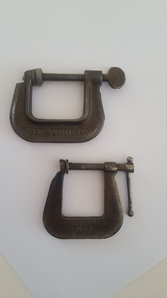 """Cincinnati Hargrave 4"""" C Clamp New Old Stock Forged Made In USA"""