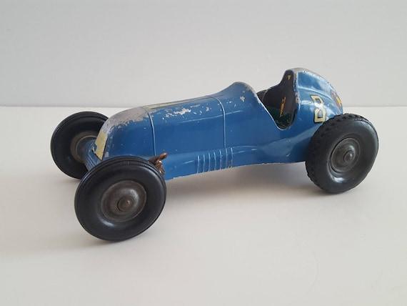 Thimble Drome spécial années 1950 par L.M. Cox, Santa Anna, en Californie, voiture de course de peinture #8 chippy bleu, attache pour voiture, support moteur