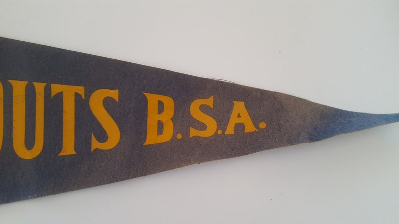 Vintage late 1940/'s Cub Scouts BSA cottonfelt pennant faded age appropriate wear.