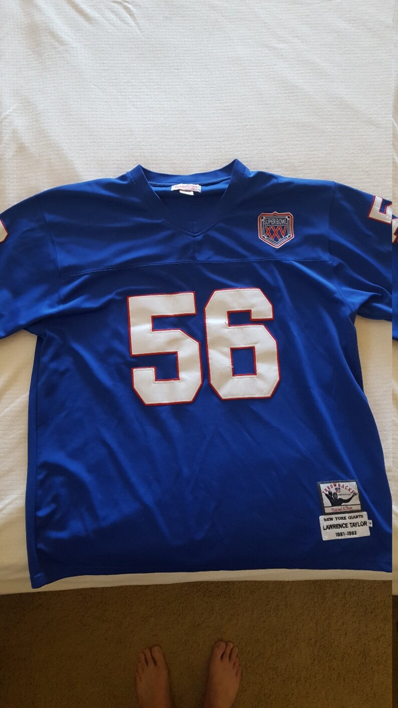 timeless design 3d11d ee4e2 Vintage Mitchell and Ness NFL Throwback jersey New York Giants Hall of Fame  Lawrence Taylor size 58, Super Bowl XXV patch