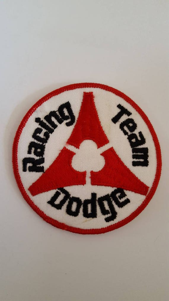 Vintage Dodge iron on embroidery patch jacket caps 1980/'s