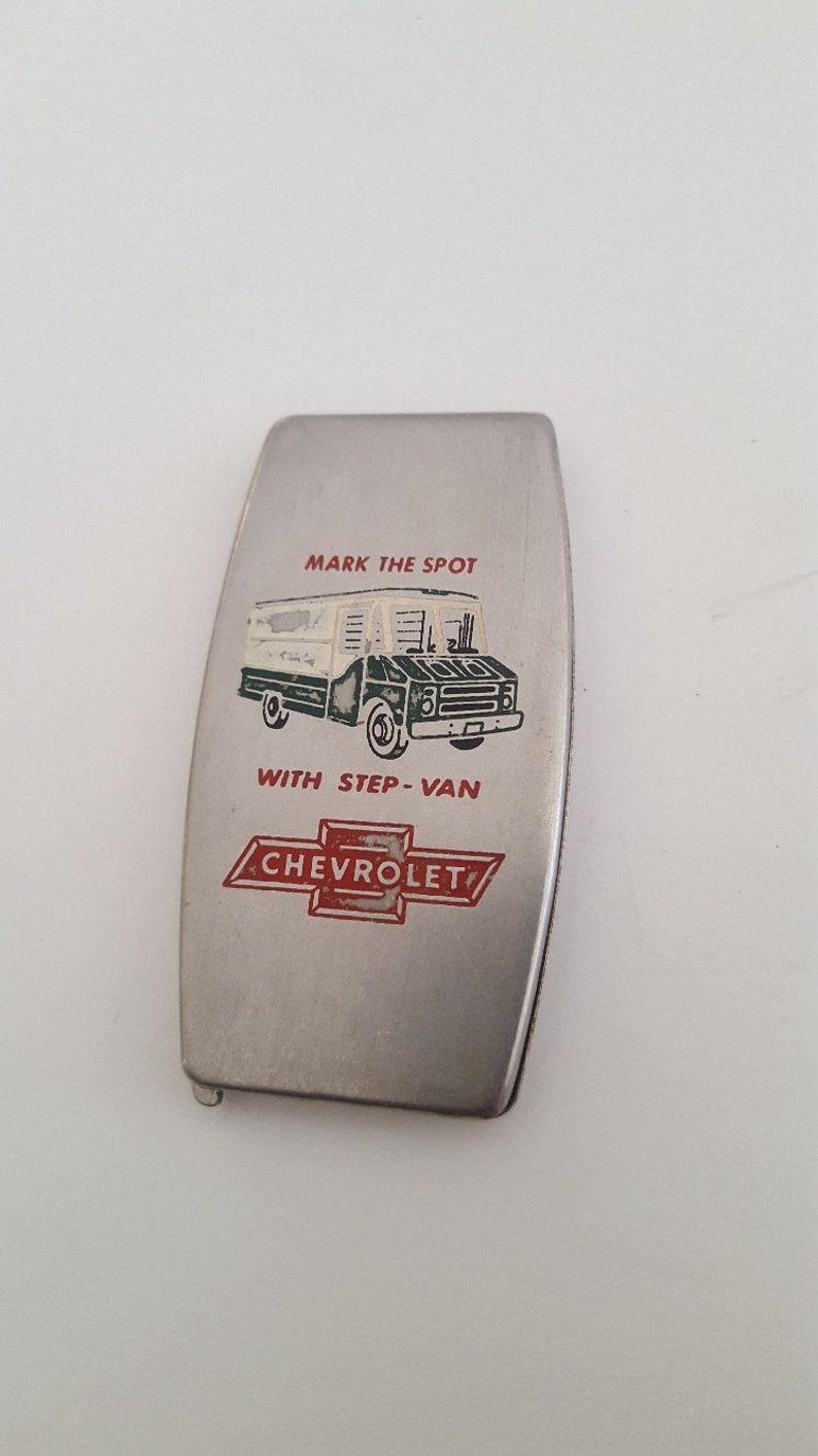 Vintage 1960's Zippo Greenskeeper pocket advertising tool, Chevrolet  Step-van, Bowtie, golf tool