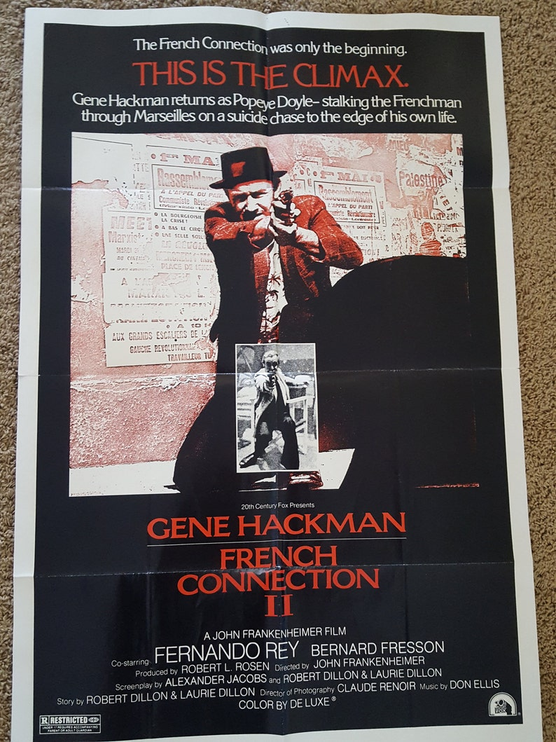 1cebef3d Vintage Original movie poster The French Connection II | Etsy