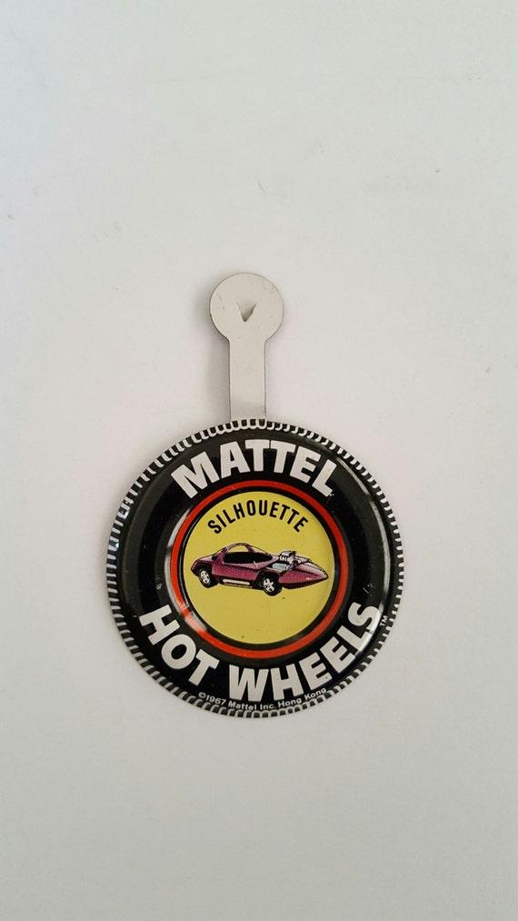 Vintage Redlines Hot Wheels steel badge,  Silhouet