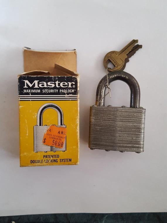 Vintage Master Lock Secret Service No 5 Laminated Steel Etsy