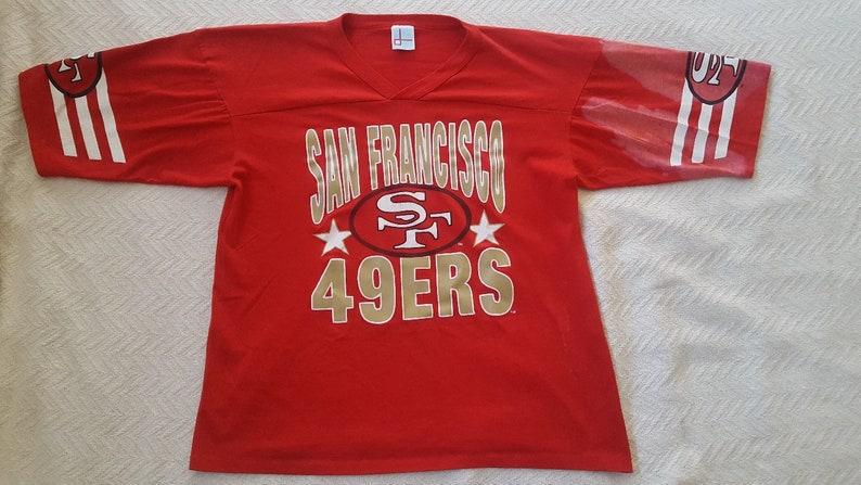 c7b9b8e8 Vintage well used San Francisco Francisco 49ers T-shirt size | Etsy