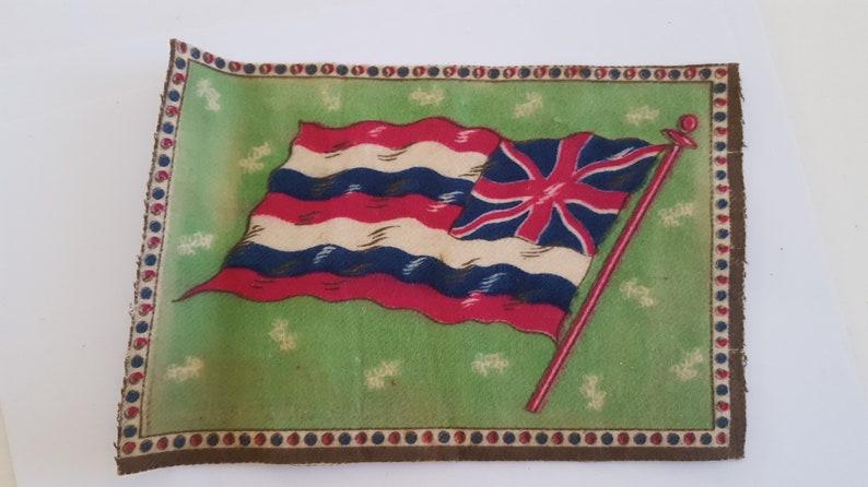 Antique circa 1910/'s Cigar Box flannel felt premium flag of South Australia measures 8 x 5