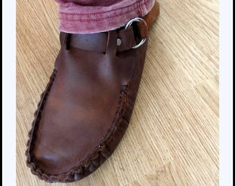 Leather Moccassin Earth Boot