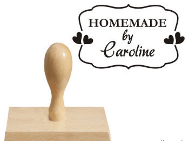 Custom Stamp  Personalised wooden rubber stamp  HOMEMADE stamp  business stamp  baking cooking stamp  address stamp  retro heart stamp