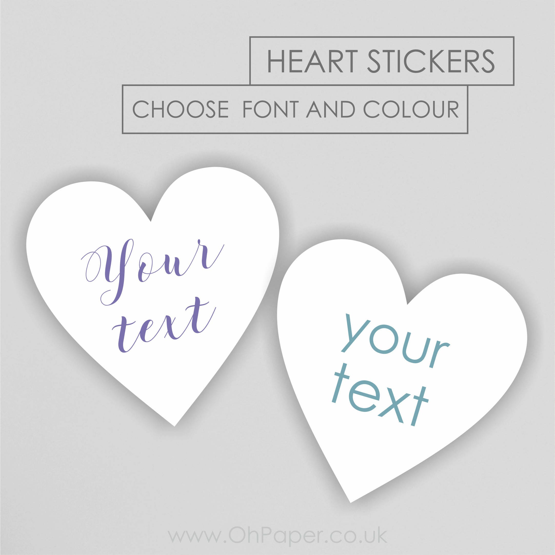 Heart stickers your text stickers custom personalised stickers heart shaped stickers wedding stickers party favours birthday
