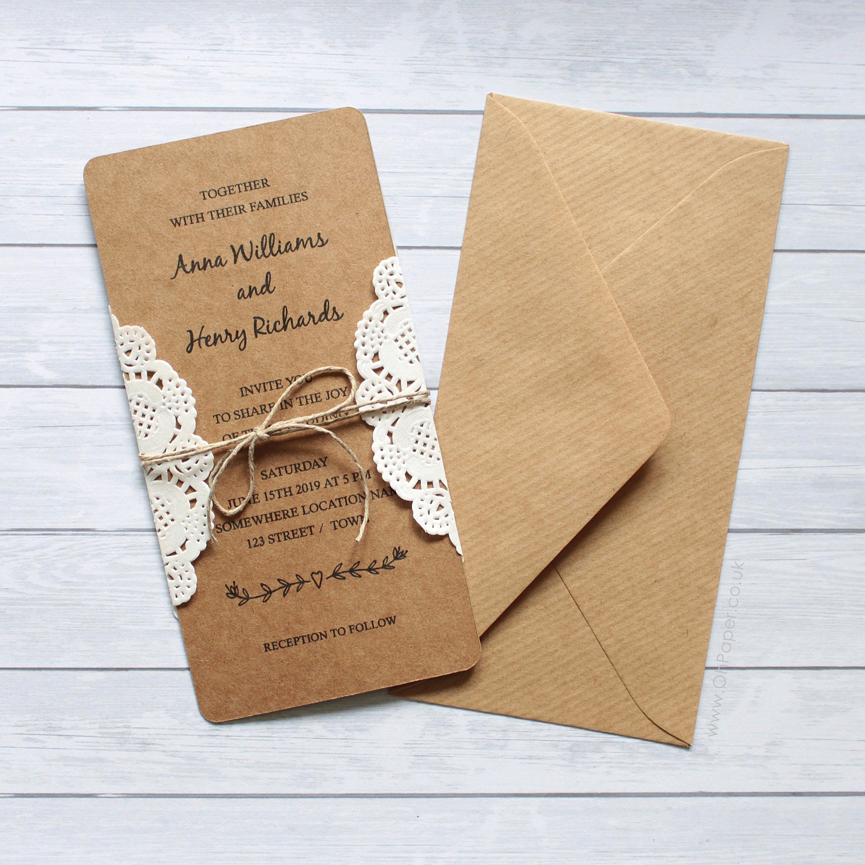 Custom Rustic Wedding Invitations: CUSTOM Wedding Invitation / Save The Date / Rustic