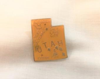 Vintage UTAH State Pin, Scatter Pin, State Souvenir Pin, Hat Pin, Lapel Pin