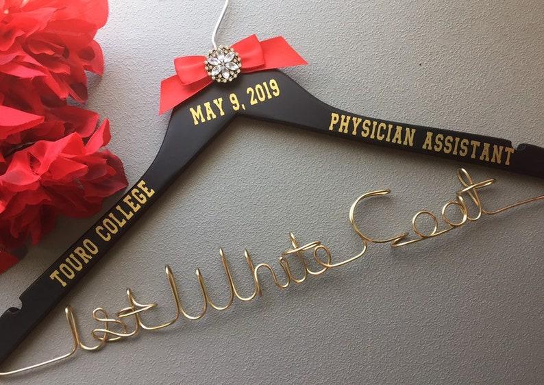 White Coat Ceremony Gift, Medical School Graduation Gift, Doctor Hanger,  Physician Gift, Doctor Hanger, Personalized Doctor Hanger Gift