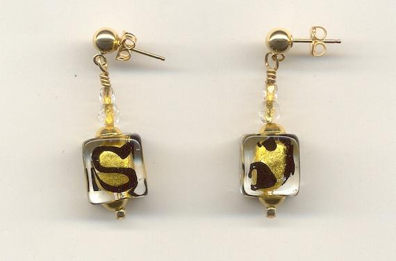24kt Gold Foil Bead Earrings