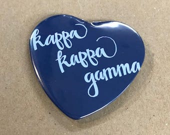 Kappa Kappa Gamma Color Heart-Shaped Button