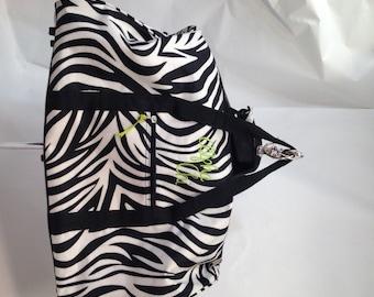092e324a701e Alpha Chi Omega Zebra Fabric Duffle Bag