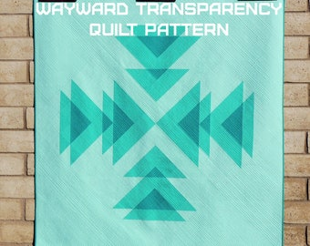 Wayward Transparency Quilt Pattern - A Pattern Digital Download (PDF) by Quilting Jetgirl
