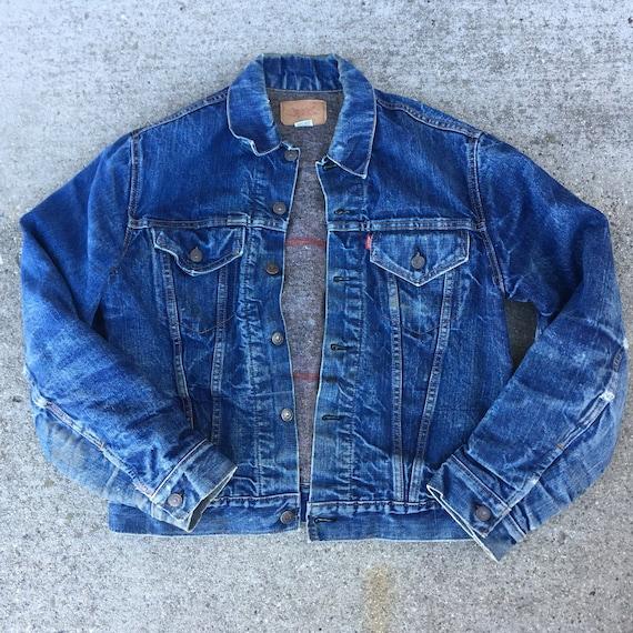 Vintage Blanket-Lined Levis Jacket// blanket jacke