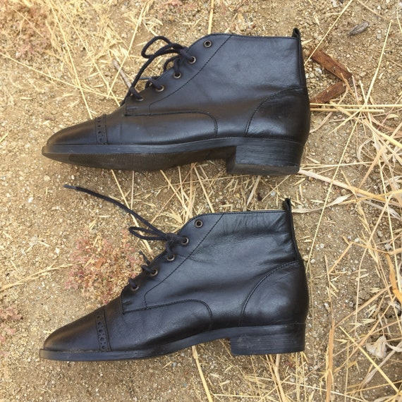 90s Leather Ankle Boots // 90s shoes//leather boo… - image 5