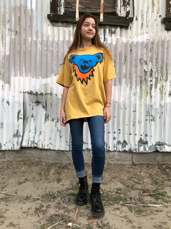 Vintage Grateful Dead Shirt  // deady bear shirt//