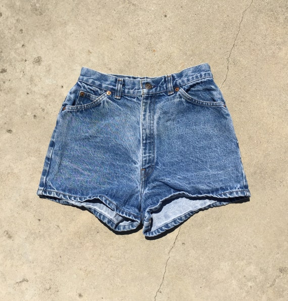 Vintage Orange Tab Levis Shorts // orange tab levi