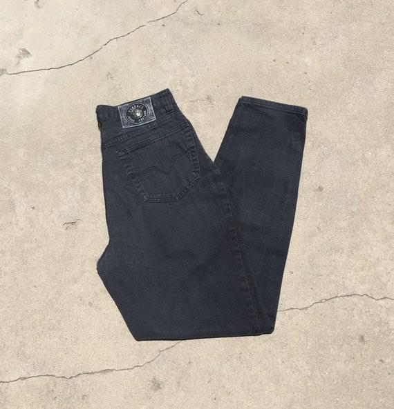 SOLD via our Website //  90s Versace Black Jeans /