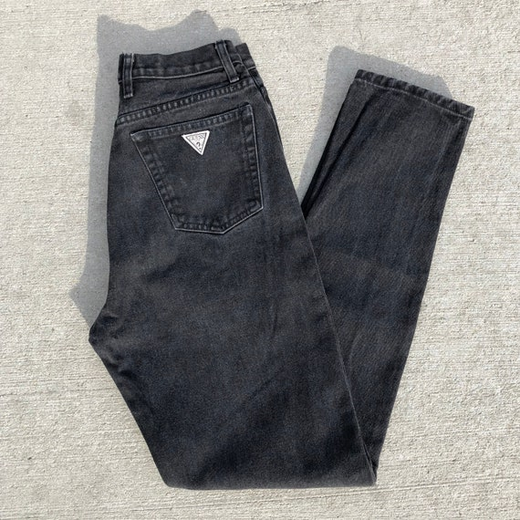 90s Black Guess Jeans //  high waisted jeans//gues