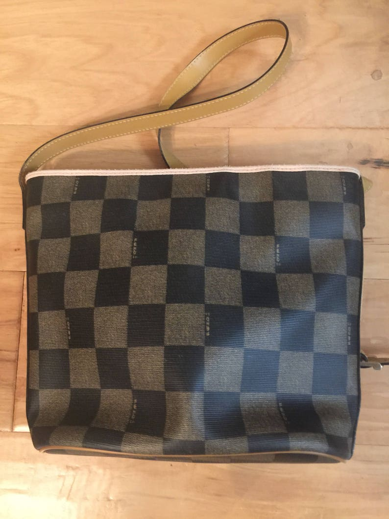 The Vintage Fendi Bag   80s Fendi  90s fendi   fendi checkered  d4ca9f5198f19