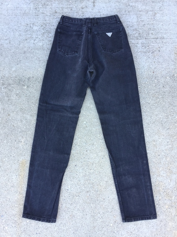 90s Black Guess Jeans //  high waisted jeans//gue… - image 3