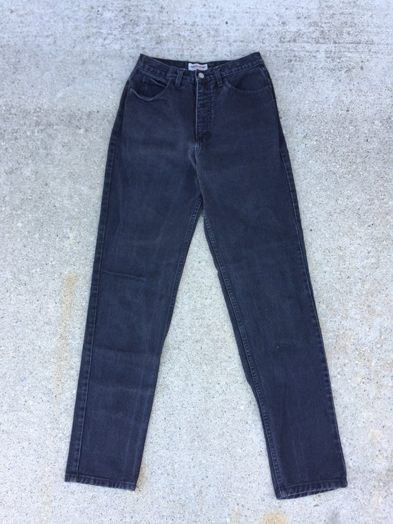 90s Black Guess Jeans //  high waisted jeans//gue… - image 2