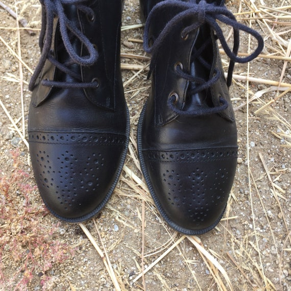 90s Leather Ankle Boots // 90s shoes//leather boo… - image 3