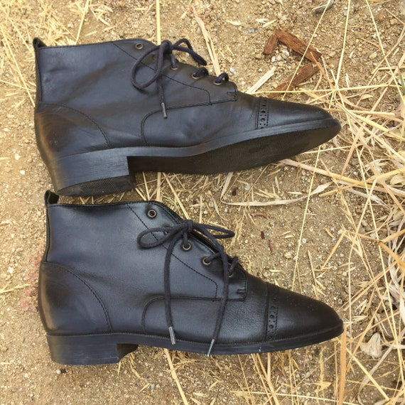 90s Leather Ankle Boots // 90s shoes//leather boo… - image 6