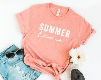 cf50d9674 Summer Lovin' | Short Sleeve | Summer Tee | Vacation Tee | Everyday Tee |  Unisex Shirt | Graphic Tee | Funny Tees | Boyfriend Fit
