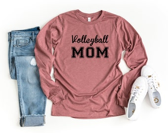 One Day Ill Play Volleyball Just Like My Mommmy Toddler//Kids Long Sleeve T-Shirt