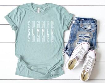 78dcbd19f Summer Summer Summer | Short Sleeve | Summer Tee | Vacation Tee | Women's  Shirt | Everyday Tee | Graphic Tee | Boyfriend Fit