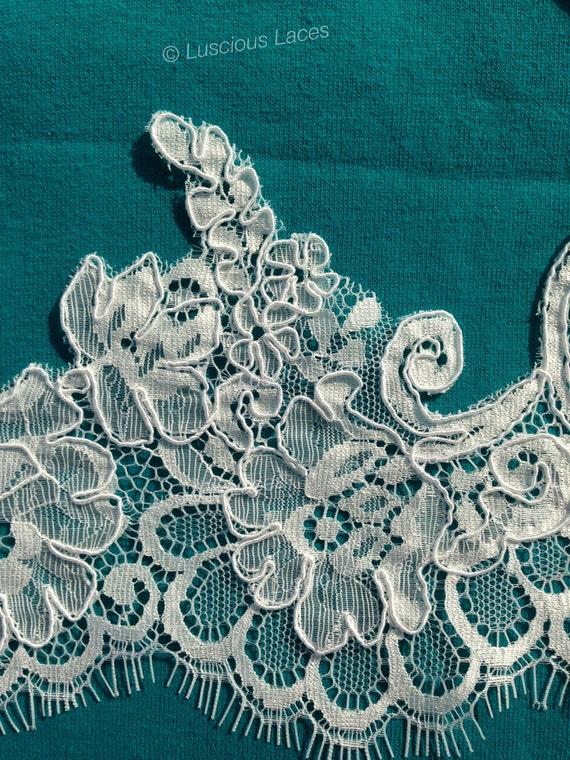 Dentelle de Chantilly, magnifique dentelle dentelle Français, Design Original, mariée mariage dentelle dentelle pulpeuse, mariée bordure en dentelle avec des cils 493cad