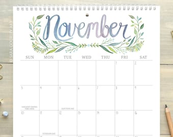 Wall Calendar Etsy