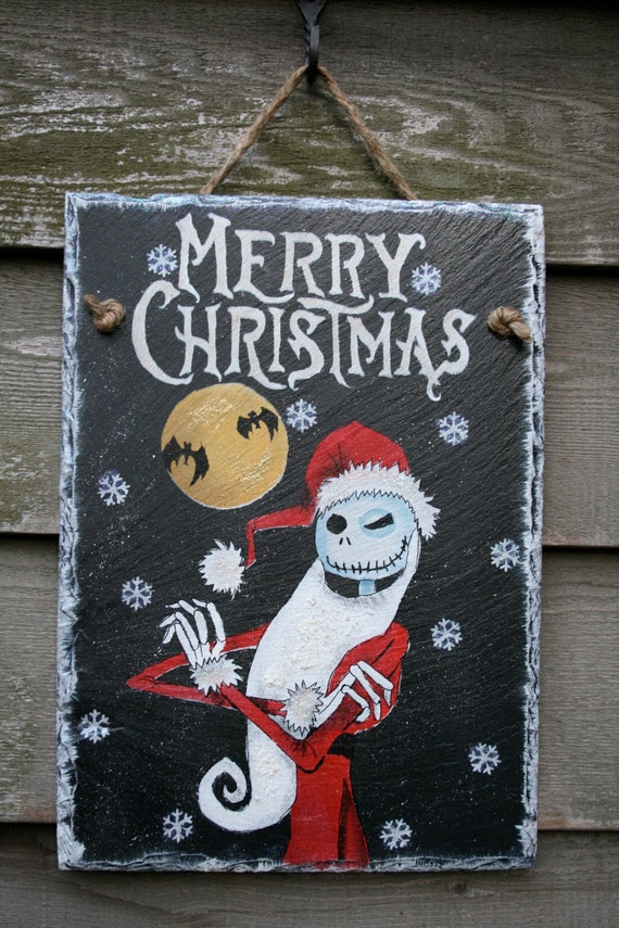 Jack Skellington The Nightmare Before Christmas Hand Painted Etsy