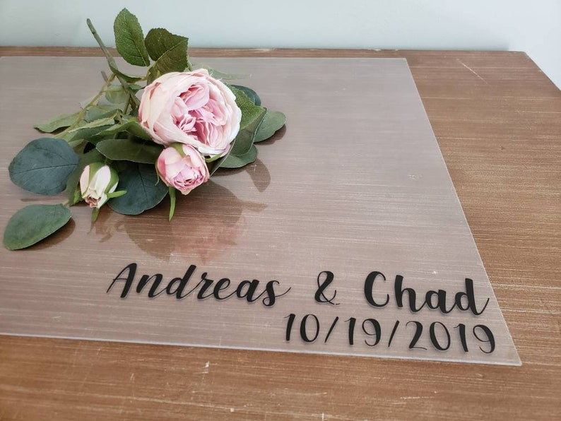 Clear Acrylic Guestbook  Clear Acrylic Wedding Guestbook Sign image 0
