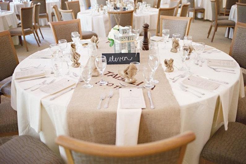 Modern Rustic Burlap Table Runner  Industrial Wedding  Etsy image 0