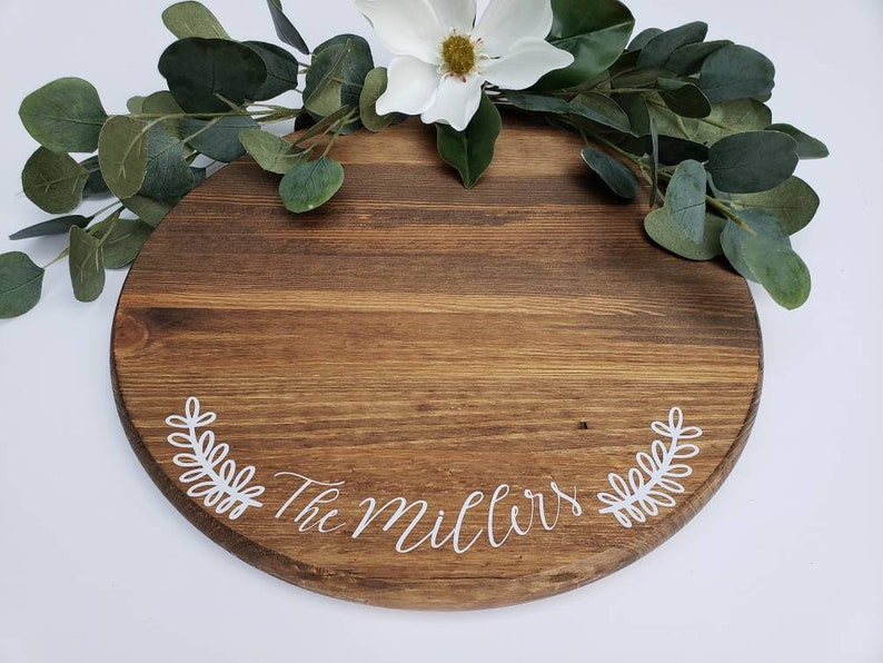 LARGE Rustic 24 Round Wood Cupcake Stand  Personalized image 0