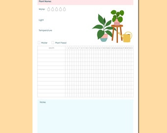 Garden planner pdf   Etsy