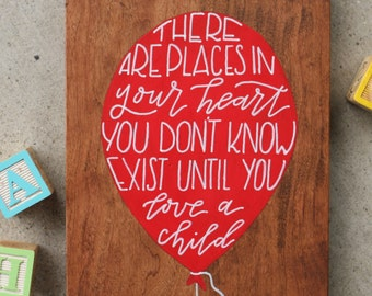 Places In Your Heart- Wood Wall Plaque