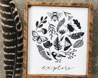 Explore Wood Sign